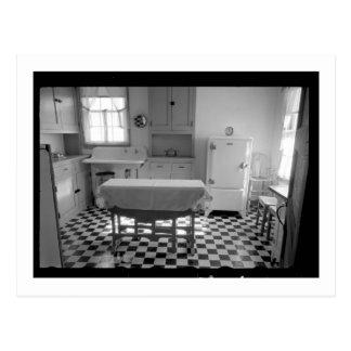 Depression-Era Farm Kitchen Postcard