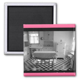 Depression-Era Farm Kitchen Square Magnet