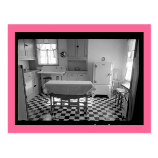 Depression-Era Farm Kitchens Postcard