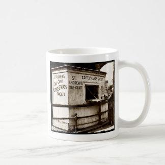 Depression Era One Penny Coffee Stand Basic White Mug