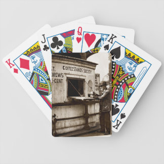 Depression Era One Penny Coffee Stand Bicycle Poker Cards