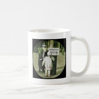 Depression Era Santa and Child Coffee Mug