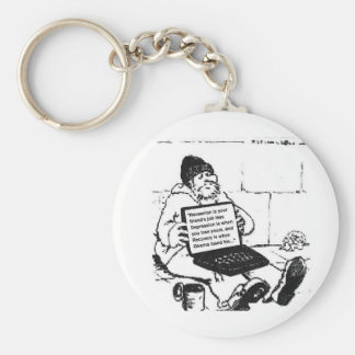 Depression/Recovery Basic Round Button Key Ring