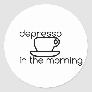 depresso in the morning Sticker