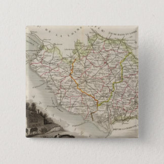 Dept. De La Vendee 15 Cm Square Badge