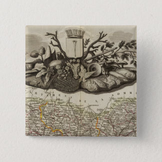 Dept. De L'Oise 15 Cm Square Badge