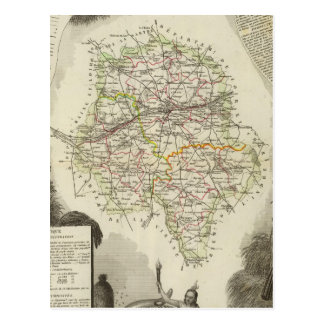 Dept D'Indre and Dormouse Postcard