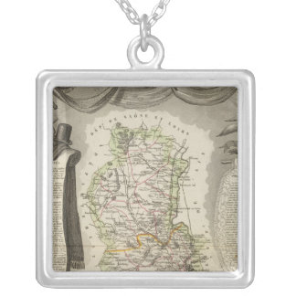 Dept Du Rhone Silver Plated Necklace