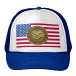 DEPT OF JUSTICE GOLD BADGE TRUCKER HAT