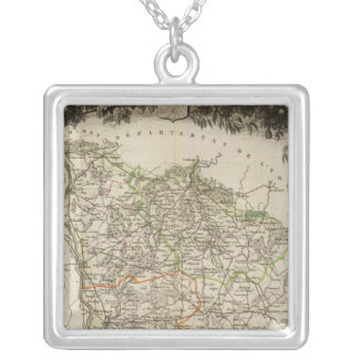 Dept. of Ni�vre Silver Plated Necklace