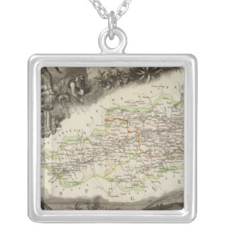 Dept of Pyrenees Orles Silver Plated Necklace