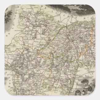 Dept of Saone et Loire Square Sticker