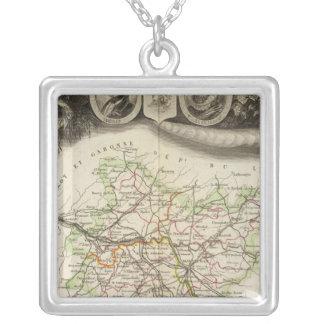 Dept Of Tarn et Garonne Silver Plated Necklace