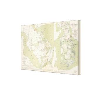 Dept of Virginia, Yorktown to Williamsburg Canvas Print