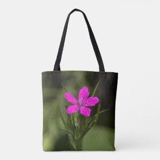 Deptford Pink Wildflower Floral Tote Bag