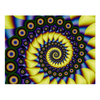 Depth Perception Cool Abstract Fine Fractal Postcard