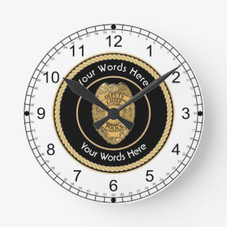 Deputy Chief of Police Universal Round Clock