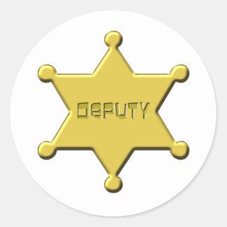 DEPUTY CLASSIC ROUND STICKER