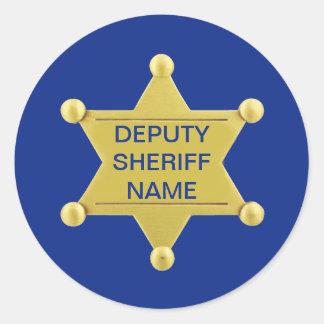 Deputy Sheriff Custom Classic Round Sticker