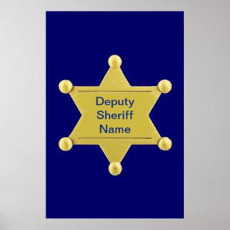 Deputy Sheriff Custom Poster