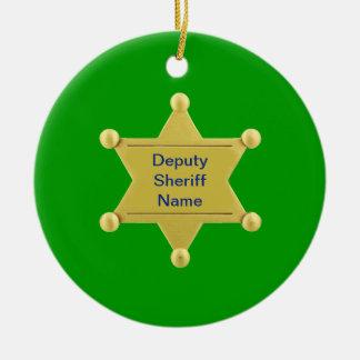 Deputy Sheriff Custom Round Ceramic Decoration
