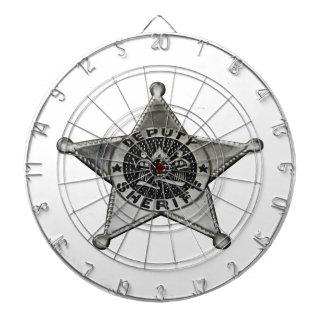 Deputy Sheriff Dartboard With Darts
