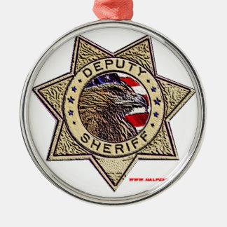 Deputy_Sheriff_emboss Christmas Ornament