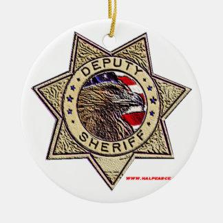 Deputy_Sheriff_emboss Round Ceramic Decoration