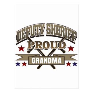 Deputy Sheriff Proud Grandma Postcard