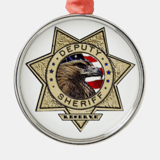 Deputy_Sheriff_Reserve Silver-Colored Round Decoration