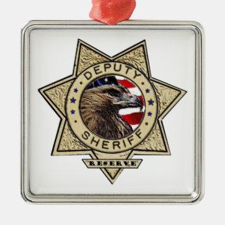 Deputy_Sheriff_Reserve Silver-Colored Square Decoration