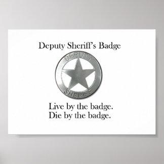 Deputy Sheriff s Badge Poster