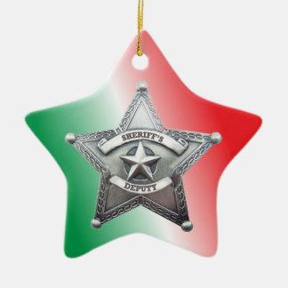 Deputy Sheriff's Star Badge Ceramic Star Decoration