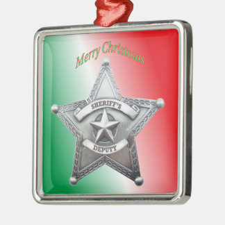 Deputy Sheriff's Star Badge Ornaments