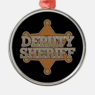 Deputy Sheriff Silver-Colored Round Decoration