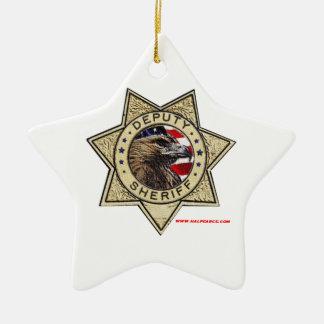 Deputy_Sheriff_Texturized Ceramic Star Decoration