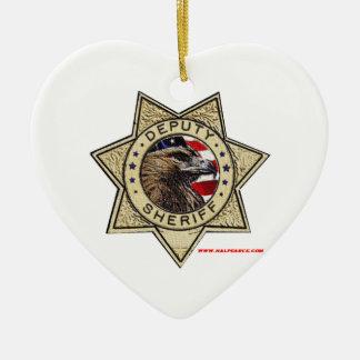 Deputy_Sheriff_Texturized Ceramic Heart Decoration