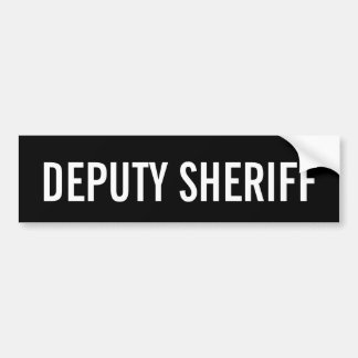DEPUTY SHERIFF - White Logo Emblem Bumper Sticker