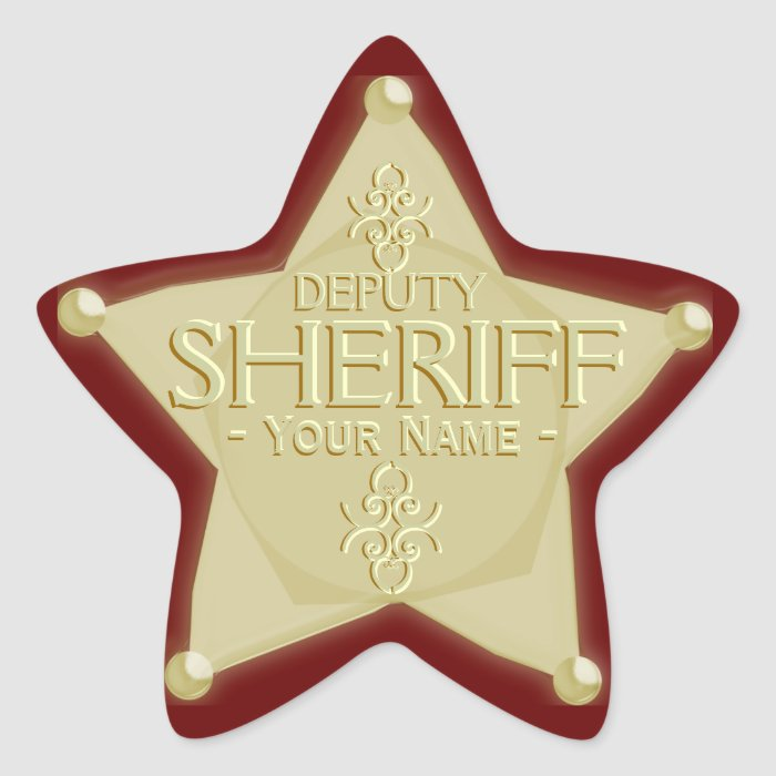 Sheriff Badge Template