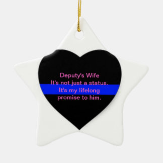 Deputy's Wife Ornament: Its Not just a status Christmas Ornament