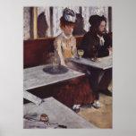 Der Absinth. Degas, Edgar Germain Hilaire Poster