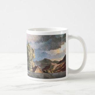 Der Schreckenstein In Usti By Richter Ludwig Classic White Coffee Mug