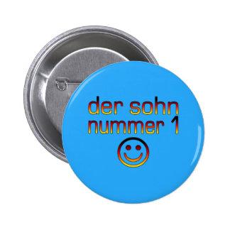 Der Sohn Nummer 1 - Number 1 Son in German 6 Cm Round Badge