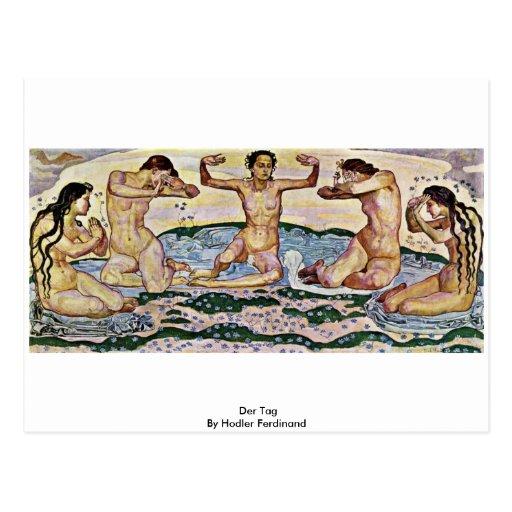 Der Tag By Hodler Ferdinand Post Cards