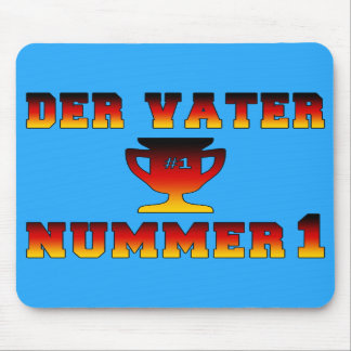 Der Vater Nummer 1 #1 Dad in German Father's Day Mouse Pads
