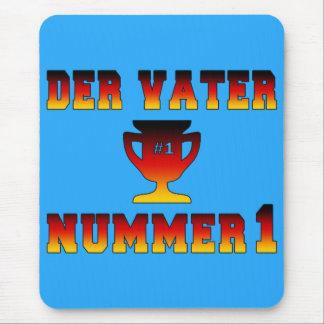 Der Vater Nummer 1 #1 Dad in German Father's Day Mouse Pad