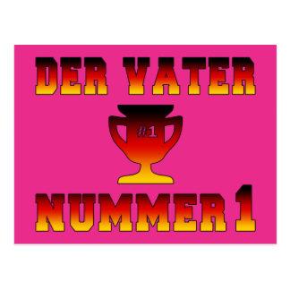 Der Vater Nummer 1 #1 Dad in German Father's Day Postcards