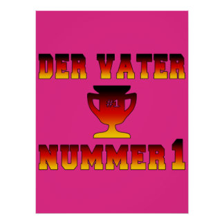 Der Vater Nummer 1 #1 Dad in German Father's Day Poster