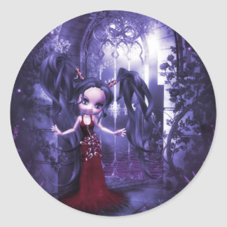 Deranged Dolly Black Rose Sticker