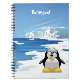 Deranged Penguin on Ice Notebook